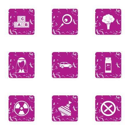 Useful icons set, grunge style