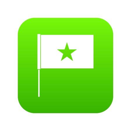 Vietnam flag icon digital green for any design isolated on white vector illustration