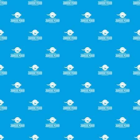 Jurassic period pattern vector seamless blue Illustration