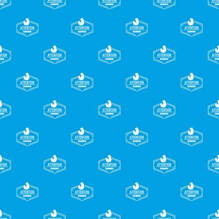 Zombie pattern vector seamless blue repeat for any use