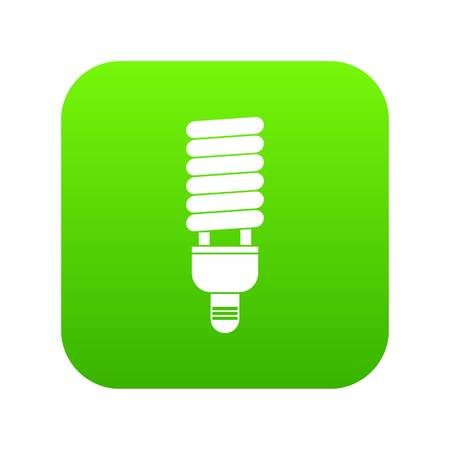 Fluorescent bulb icon digital green for any design isolated on white vector illustration