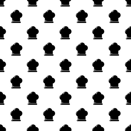 Chef hat pattern vector seamless repeating for any web design Ilustração