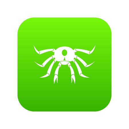Crab seafood icon digital green for any design isolated on white vector illustration