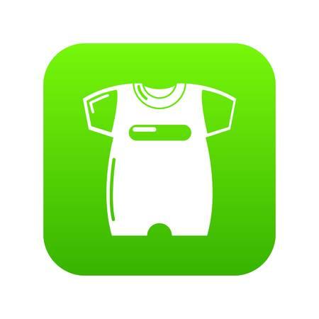 Children slider icon green vector isolated on white background
