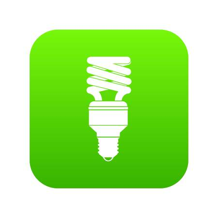 Energy saving bulb icon digital green for any design isolated on white vector illustration