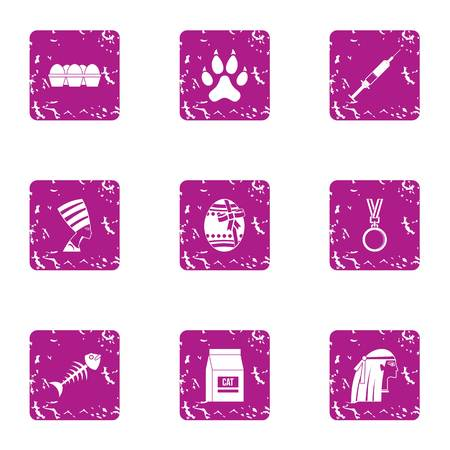 Outlook icons set. Grunge set of 9 outlook vector icons for web isolated on white background. Illustration