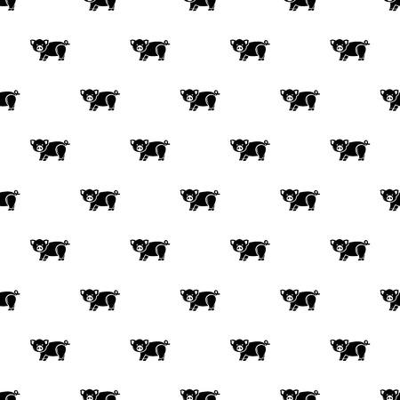Cute pig pattern vector seamless