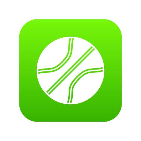 Basketball ball icon digital green