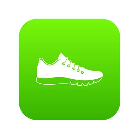 Sneakers icon digital green 向量圖像