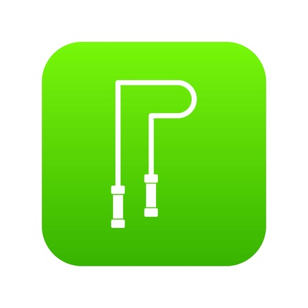 Skipping rope icon digital green