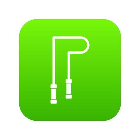 Skipping rope icon digital green