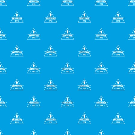 Protesteur pattern vector seamless blue