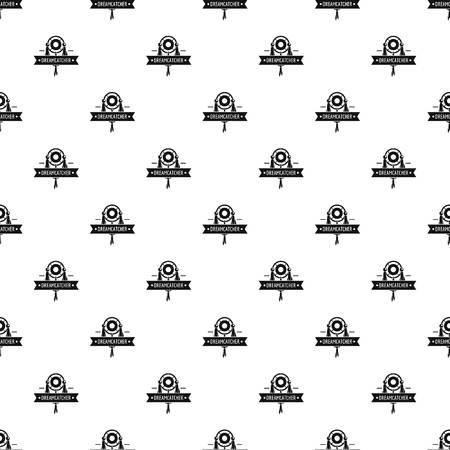 Dreamcatcher pattern vector seamless repeat for any web design Ilustração