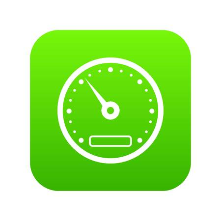Speedometer icon digital green for any design isolated on white vector illustration