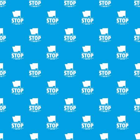 Social protest stop pattern vector seamless blue Illustration