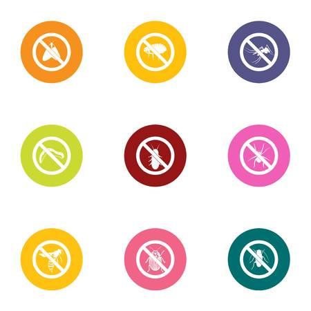 Antidote icons set, flat style