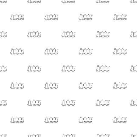 Old steam locomotive pattern vector seamless Illustration