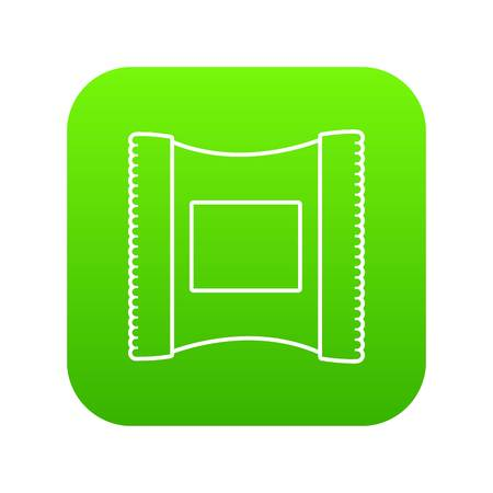 Wet wipes package icon green vector 矢量图像