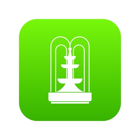 Fountain icon digital green for any design isolated on white vector illustration
