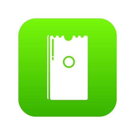 Dry napkins pack icon green vector