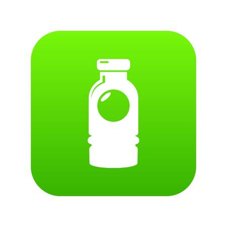 Cosmetic bottle icon green vector 向量圖像