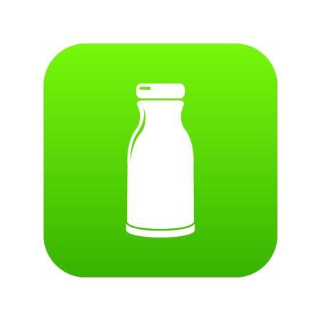 Bottle shampoo icon green vector Illustration