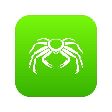 Snow crab icon digital green