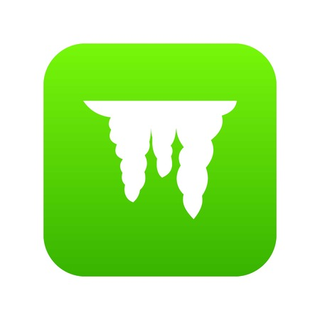 Icicles icon digital green