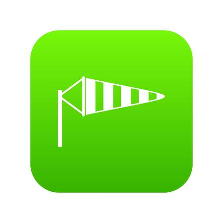 Windsock icon digital green