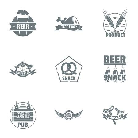 Make beer logo set, simple style