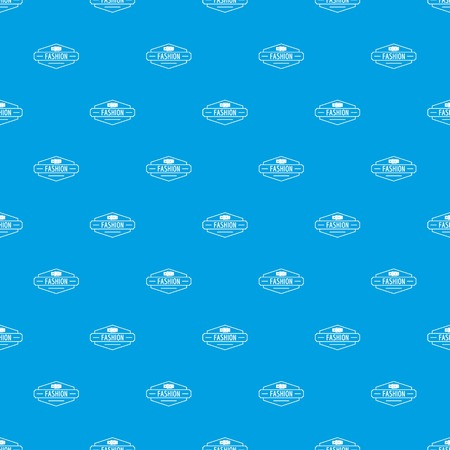 Buckle pattern vector seamless blue