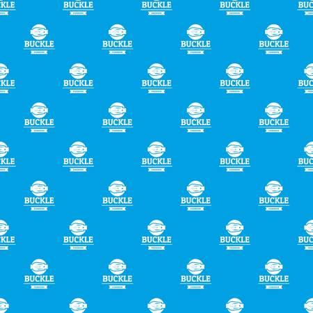 Buckle garment pattern vector seamless blue