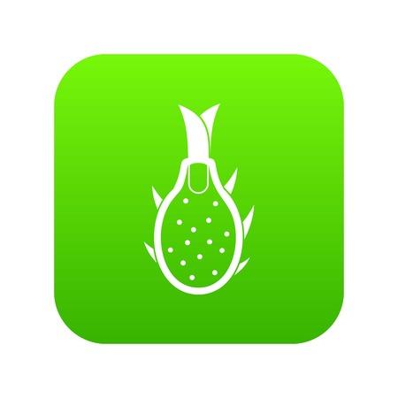 Dragon fruit icon digital green