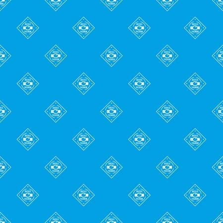 Buckle chrome pattern vector seamless blue