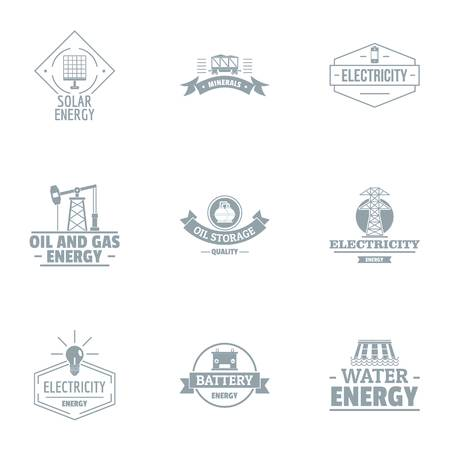 Alternative power logo set, simple style