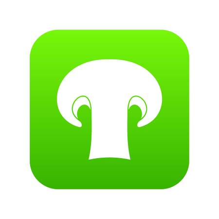 Champignon mushroom icon digital green