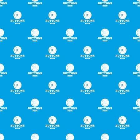 Clothes button textile pattern vector seamless blue