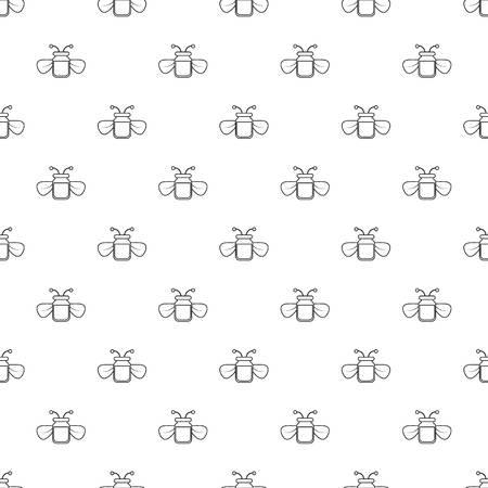 Jar of bee honey pattern vector seamless Vectores