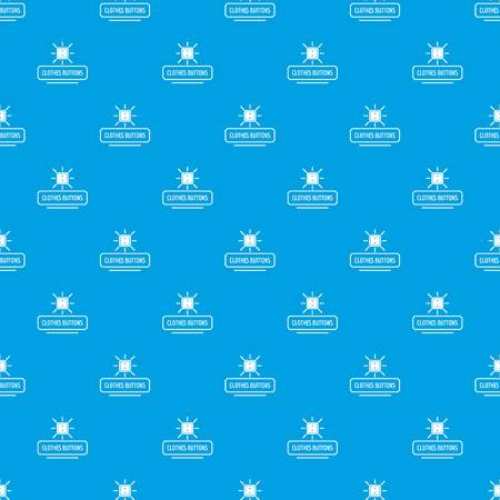 Clothes button pattern vector seamless blue