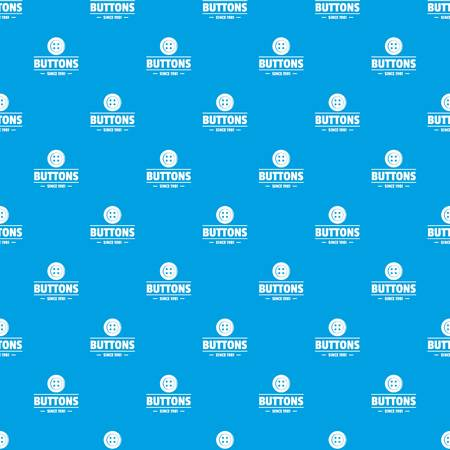 Clothes button dressmaking pattern vector seamless blue