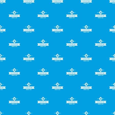 Clothes button element pattern vector seamless blue 일러스트