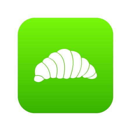 Croissant icon digital green