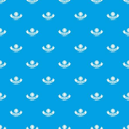 Clothes button retro pattern vector seamless blue