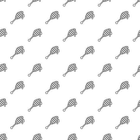 Honey ladle pattern vector seamless