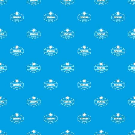 Sewing service pattern vector seamless blue Illustration
