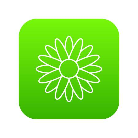 Honey flower icon green vector Illustration