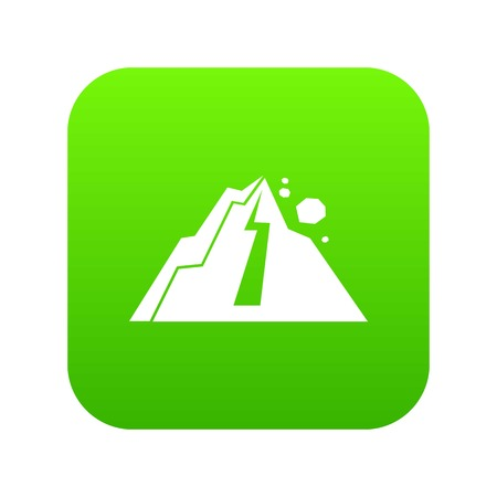 Rockfall icon digital green 向量圖像