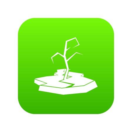 Drought icon digital green 일러스트