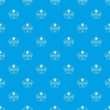 Clothes button dress pattern vector seamless blue
