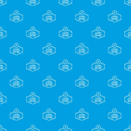 Clothes button craft pattern vector seamless blue